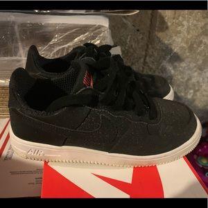 Nike AF1 size 4 black/white